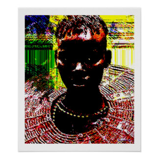 African Tribal Beauty Poster