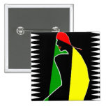 African Tribal Color Splash 2 Inch Square Button