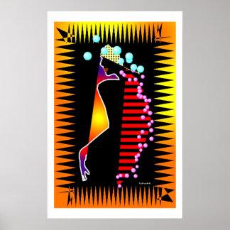 African Tribal Color Splash Poster