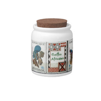 African tribal costumes candy dish