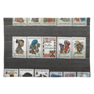 African tribal costumes place mats