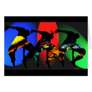 African Tribal Dance Card