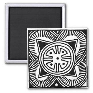 African Tribal Design Magnet