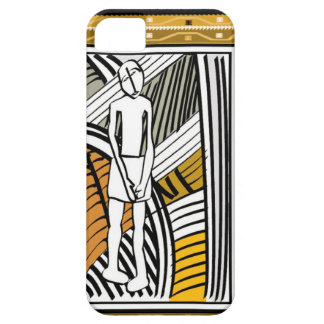 African tribal farmer, gold iPhone 5 case