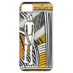 African tribal farmer, gold iPhone 5 cover