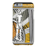 African tribal farmer, gold iPhone 6 case
