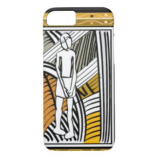 African tribal farmer, gold iPhone 8/7 case