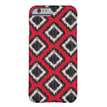 African Tribal Ikat Woven Bold Red and Black Barely There iPhone 6 Case