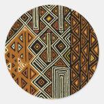 African Tribal Kuba Design Classic Round Sticker