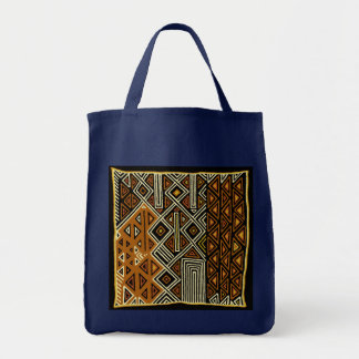 African Tribal Kuba Design Tote Bag