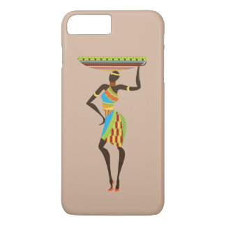 African Tribal Lady with basket tribal art iPhone 7 Plus Case