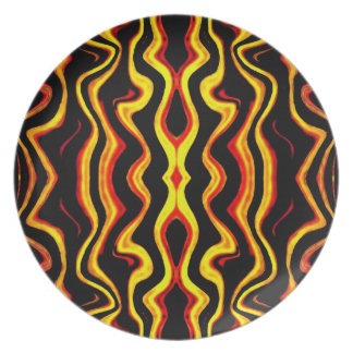African tribal motif Plate