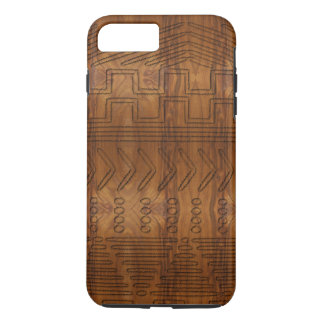 African Tribal Mudcloth Wood Grain Look iPhone 7 Plus Case