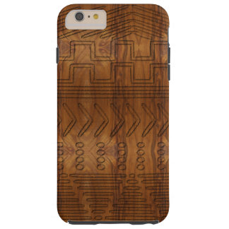 African Tribal Mudcloth Wood Grain Look Tough iPhone 6 Plus Case