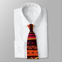 African Tribal pattern fun tie