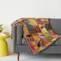 African Tribal pattern home decor throw blanket