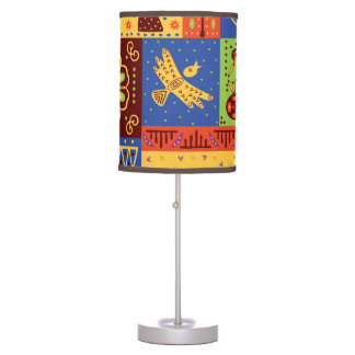 African Tribal pattern home office decor lamp