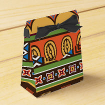 African Tribal pattern party favor box