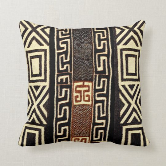 African Tribal Print Throw Pillow Zazzle Com