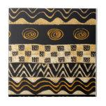 African Tribal Shaman Design Ceramic Tile