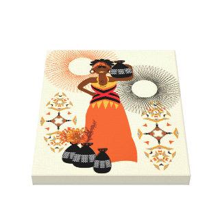 African Tribal Woman Print  A fabulous illustratio