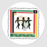 African Unity Classic Round Sticker