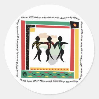 African Unity Classic Round Sticker