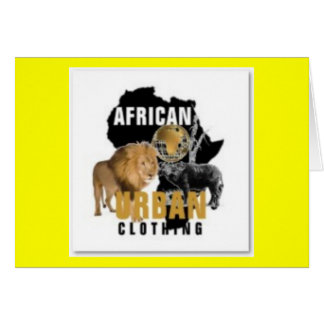 African Urban T-shirt And Etc Greeting Card