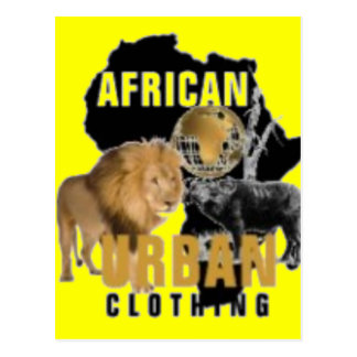 African Urban T-shirt And Etc Postcard