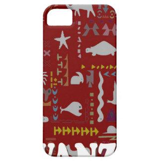 African village animals red iPhone SE/5/5s case