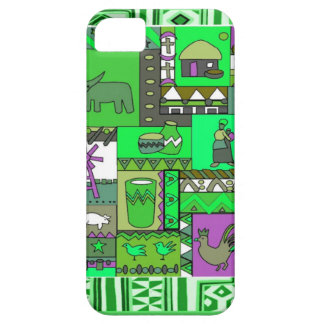 African village artifacts green iPhone SE/5/5s case