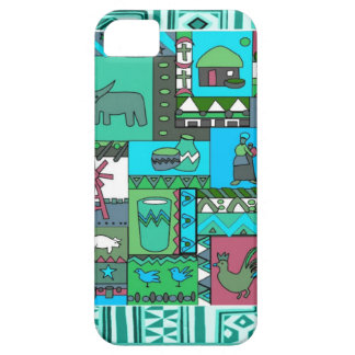 African village artifacts iPhone SE/5/5s case