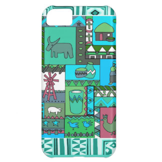 African village scene iPhone 5C cover