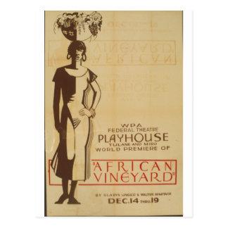 African Vinneyard Federal Theatre Debut Poster Postcard