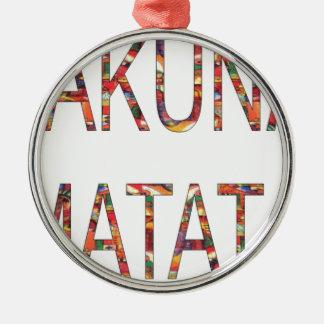 African Vintage Colors Hakuna Matata.jpg Round Metal Christmas Ornament
