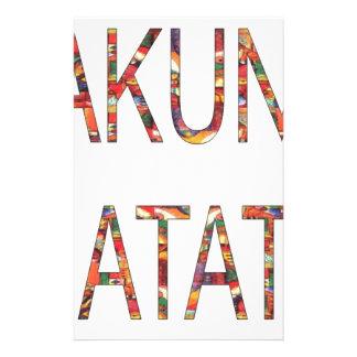 African Vintage Colors Hakuna Matata.jpg Stationery