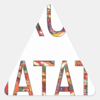 African Vintage Colors Hakuna Matata.jpg Triangle Stickers