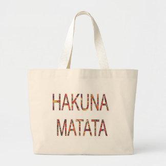 African Vintage Faddy Colors Hakuna Matata Jumbo Tote Bag