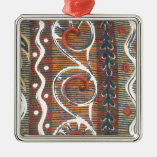 African Vintage Traditional Colors Metal Ornament