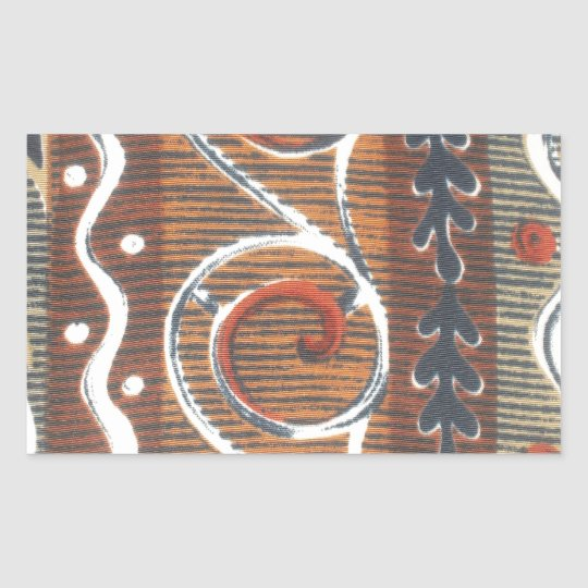 African Vintage Traditional Colors Rectangular Sticker
