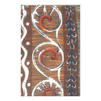 African Vintage Traditional Colors Stationery