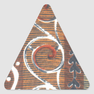 African Vintage Traditional Colors Triangle Sticker