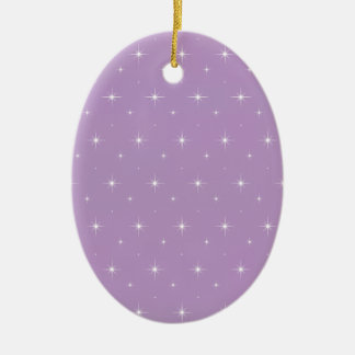 African Violet And Bright Stars - Elegant Pattern Christmas Tree Ornament