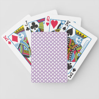 African Violet And White Seamless Mesh Pattern Bicycle Card Decks