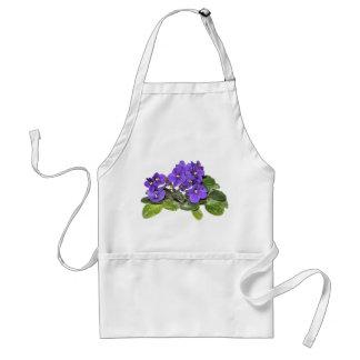 African violet adult apron