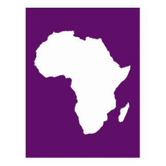African Violet Audacious Africa Postcard