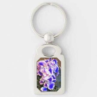 African Violet Blue Keychain