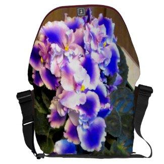 African Violet Blue Messenger Bag
