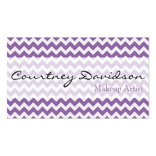 African Violet Chevron Business Cards