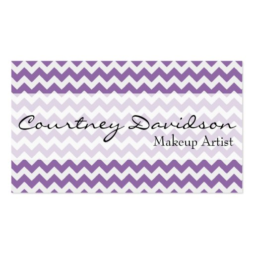 African Violet Chevron Custom Business Cards